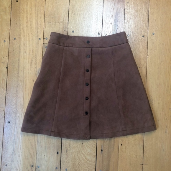 Few Moda New York Dresses & Skirts - Few Moda New York Vegan Suede A-line Mini Skirt
